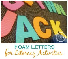Foam Letters for Literacy Activities - 4-C has sticker and regular foam for sale and has several different die cut letter fonts!