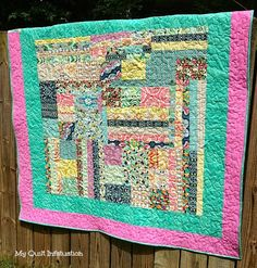 The Other Side of the Quilt - using some improv blocks for the back side of a quilt. What a fun idea!