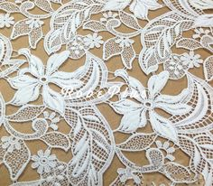 White Lace encaje de guipur blanco encaje floral blanco