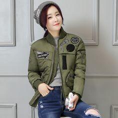 $49.76 (Buy here: https://alitems.com/g/1e8d114494ebda23ff8b16525dc3e8/?i=5&ulp=https%3A%2F%2Fwww.aliexpress.com%2Fitem%2FWinter-jacket-women-2016-new-winter-womens-parka-casaca-pluma-mujer-waterproof-short-jacket-coats-army%2F32715999428.html ) Winter jacket women 2016 new winter womens parka casaca pluma mujer waterproof short jacket coats army green  Bomber Jacket 542 for just $49.76