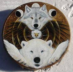 Windwolf Studio :: Creativity at the speed of flight... Visionary symbolic artwork, prints, feather and drum paintings and t-shirts available in our online shop