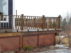 Build a Deck Plans - DIY Deck Stair and Deck Railings