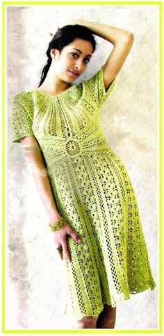 crochelinhasagulhas: crochet verde abito