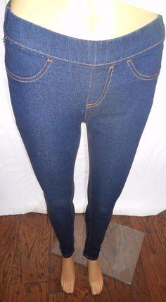 $11.99 & Free Shipping! Bobbie Brooks Size XS Comfy & Fun Dark Blue Jean Leggings Cotton & Spandex Blend #BobbieBrooks #Leggings