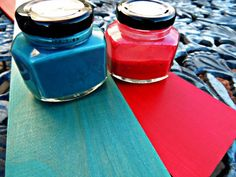 making colored stains for raw wood out of CCC paints.