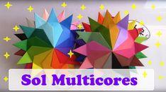 SOL 24 RAIOS MULTICORES - ORIGAMI