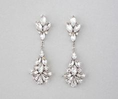 White Opal Swarovski Crystal Earrings from EarringsNation Pink and White Weddings Pastel Weddings