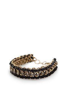 MANGO - Crystals and beads bracelet