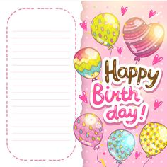 Happy Birthday card background vector image on VectorStock Happy Birthday Template, Happy Birthday Cards, Birthday Wishes, Birthday Card Background, Balloon Background, Creative Cv Template, Cake Templates, Birthday Frames, Colourful Balloons