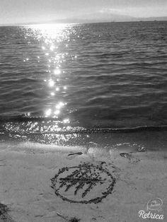 at the beach today -haha > mersi