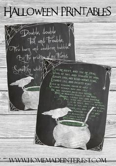 Two Wicked Halloween Printables #printable #halloween #raven #quote
