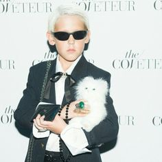 Choupette graciously agreed to drop by #thecoveteurrelaunch party (with #MiniKarlLagerfeld in tow!) http://on.fb.me/SyxTmg #MiniCoveteurs