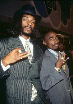 Tupac Shakur With Snoop Dogg at the MTV Video Music Awards on September 4, 1996