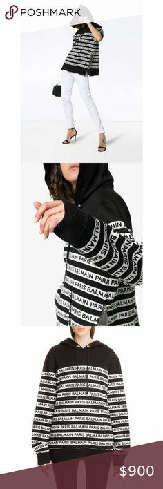 I just added this listing on Poshmark: BALMAIN Logo Striped Hoodie SIZE 12. #shopmycloset #poshmark #fashion #shopping #style #forsale #Balmain #Tops Low Waist Jeans, Hooded Sweatshirts, Hoodies, Plus Fashion, Fashion Tips, Fashion Trends, Cropped Pants, Balmain, Size 12