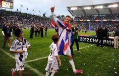 David Beckham wins 2nd MLS title as @LA Galaxy beat Houston Dynamo 3-1 at #HomeDepot Center on 12/1/12 http://celebhotspots.com/hotspot/?hotspotid=9993&next=1