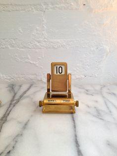 Vintage Brass Perpetual Calendar  Flip by VintageMomentsShop, $22.00