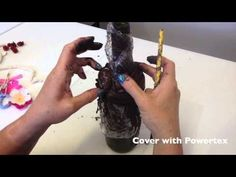 This video shows you how to create a superb Bottle Decoration using Powertex Fabric Hardener & Mixed Media ... a great gift idea - Powertex Australia - YouTube