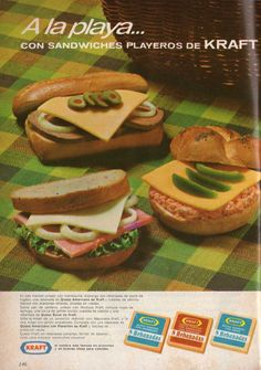 Queso fundido Kraft. Ad from 1967.