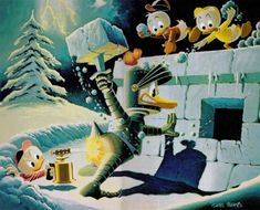 Donald Duck - Hot Defense by Carl Barks