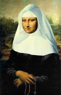 Sister Mona-- Mona Lisa Parodies #Joconde