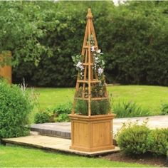 Wooden Obelisk Garden Planter by Gardman