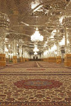 Dar-al-Marhamah Porch,Imam Reza shrine, Mashhad, Iran (Islamic Art)