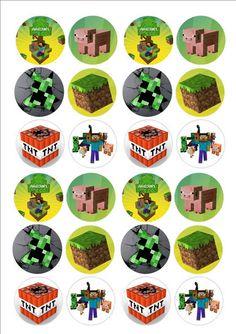 Minecraft cake toppers - Minecraft World Minecraft Pasta, Minecraft Costumes, Minecraft Cake, Minecraft Crafts, Diy Minecraft Birthday Party, Minecraft Party Decorations, Monster Birthday Parties, Minecraft Cupcake Toppers, Jungle Theme Birthday