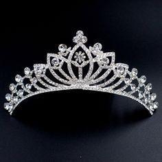Wedding Clear Austrian Crystal Rhinestone Tiara Crown Bridal Party Pageant 00284