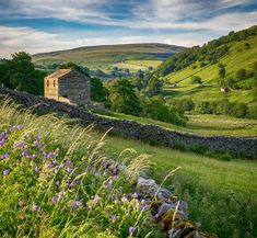 Evening in Thwaitedale, Yorkshire Dales. The beautiful Yorkshire Dales: Bob Radlinski. Yorkshire Dales, Yorkshire England, North Yorkshire, Cornwall England, England Countryside, British Countryside, Landscape Photos, Landscape Photography, Scenery Photography