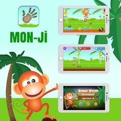One #wrong step & Game is Over! Enjoy MON-JI #monkey jumping game!
