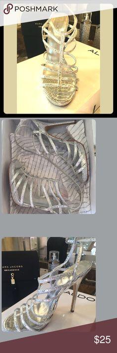 ALDO HEELS Aldo Heels 👠  Style: Meshell-81  Color: Silver Aldo Shoes Heels