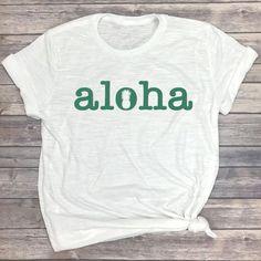 7e484ebb Aloha Pineapple Shirt - Cute Vacation Shirt - Aloha T Shirt - Slub Tee -  Aloha Graphic Tee - Surf Shirt - Beach Tshirt - Pineapple Tshirt