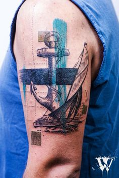 Anchor tattoo sailing ancla navegar tatuaje by would tattoo buenos aires
