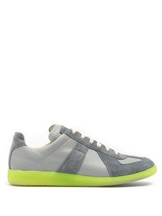 MAISON MARTIN MARGIELA Replica Low-Top Leather And Suede Trainers.   maisonmartinmargiela  shoes 8f0c15b28a1f
