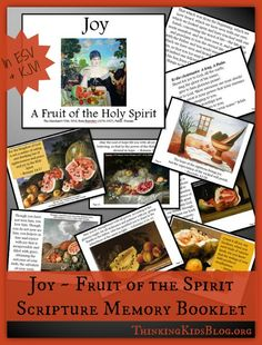 Joy ~ A Fruit of the Holy Spirit is the third Scripture Memory Booklet in my 2015 series! This is available in ESV or KJV. Did you miss the first two? You can download the Fruit of the Holy Spirit...