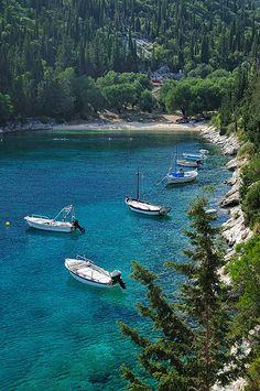 Foki Beach, just around the corner from Fiskardo. #travel #greece #kefalonia