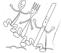 Happy Silverware embroidery pattern