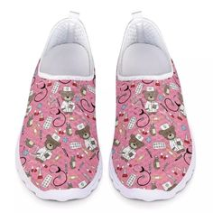 3D CARTOON PRINTED NURSE SHOES   FREE Shipping worldwide   - Dean Mary Jogging, Baskets, Nursing Shoes, 3d Cartoon, Comfy Shoes, Sport Casual, Sports Shoes, Summer Shoes, Slip On Shoes