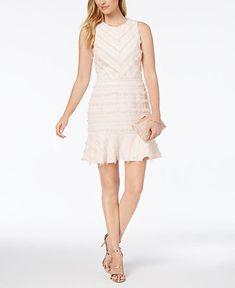 279ecd0a426b1d Adelyn Rae Eyelash Fringe A-Line Dress   Reviews - Dresses - Women - Macy s