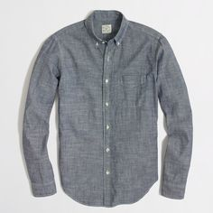 Factory chambray one-pocket shirt : workshirts & chambray | J.Crew Factory