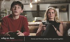 Emma and Henry playing video games together   Why We Love Once Upon A Time