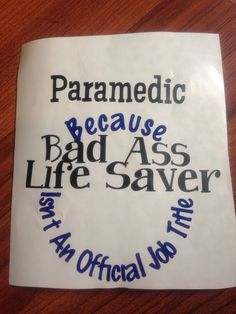 Paramedic Vinyl Decal for Yeti Cup. Because Bad by RedandthePug Decals For  Yeti Cups c8f55b0ea436