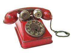 Vintage Toy Telephone by quatrefleurs