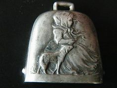 Antique Sterling Silver Baby's Bell Rattle Little Red Riding Hood