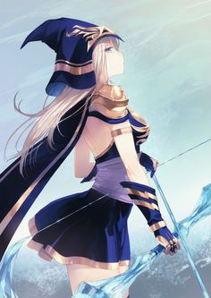 Beautiful art! (Ashe from League of Legends, ne?)