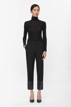 Contrast cuff trousers. cosstores.com. $125 wool. B;ack only.