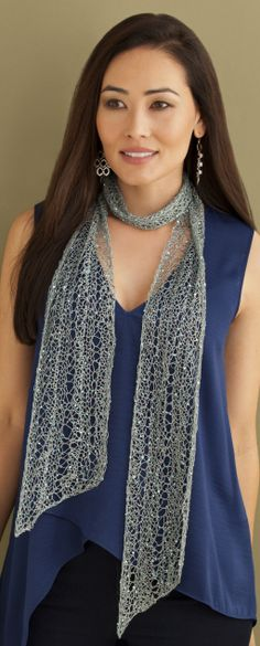 Diane 1-Ball Scarf in CRYSTAL http://tahkistacycharles.com/t/pattern_single?products_id=2214