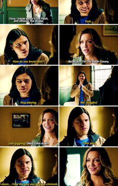 "#TheFlash 1x19 ""Who is Harrison Wells"" - Cisco and Laurel"