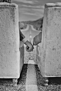 Retro Hitchhiking Engagement Shoot  //  studio moirae