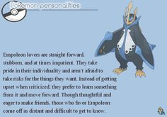 Pokemon Personalities: #395 Empoleon